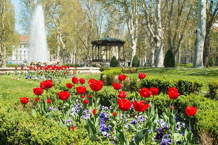 Zrinjevac Park - Zagreb Croatia