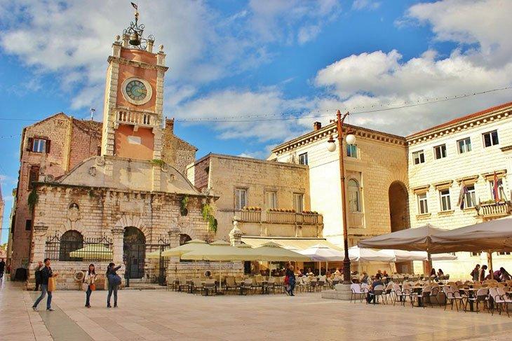 People Square In Zadar Croatia