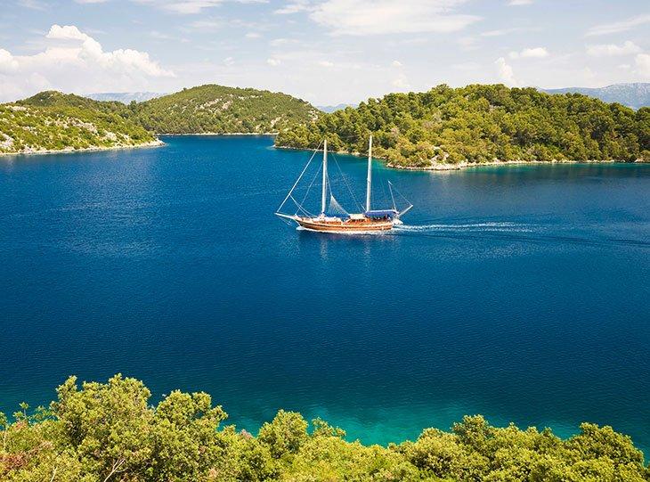 Croatian island sailing