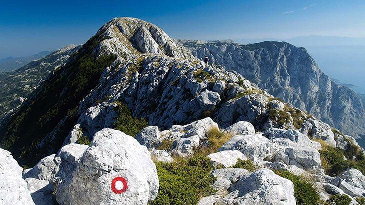 Hiking trails in nature park Biokovo
