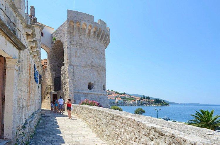 Town Walls of Korcula, Croatia