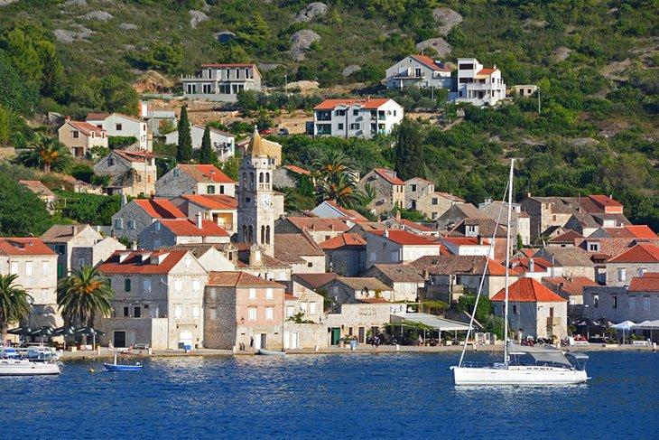 Old Kut town on Vis island