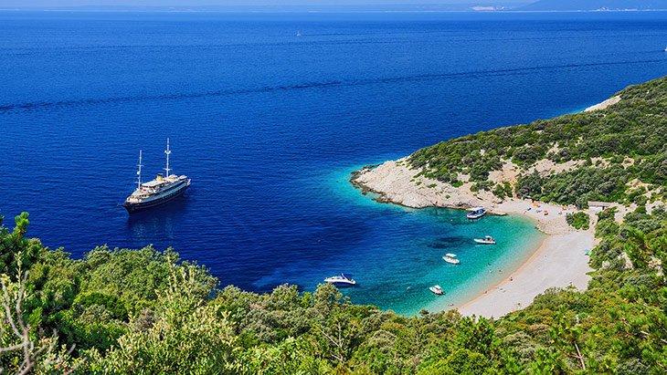 Lubenice Beach Cres Croatia