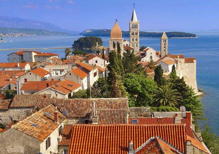 Rab island Croatia panoramic view