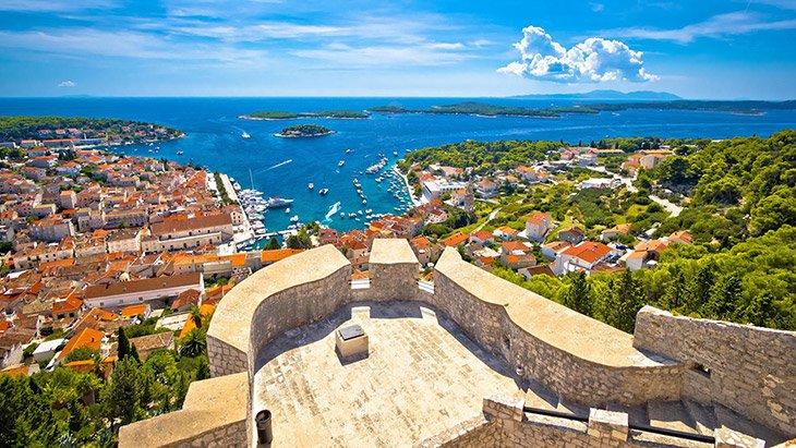 Hvar Town Panoramic View