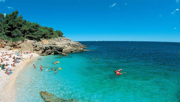 hawaii beach in Pula, Croatia