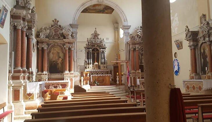 St Cross parish church in Vodice