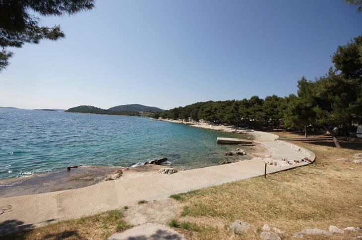 Zamalin beach in tribunj