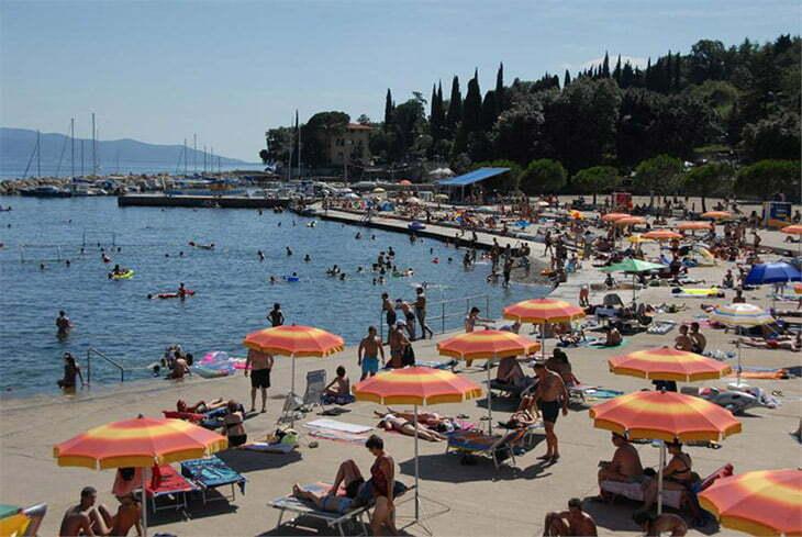 Ičići beach Opatija