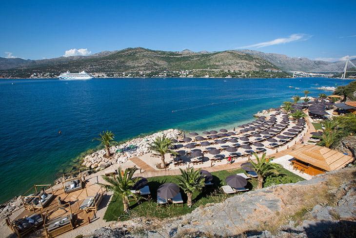 Cava beach in Babin kuk Dubrovnik