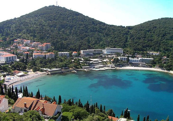 Lapad beach in Dubrovnik